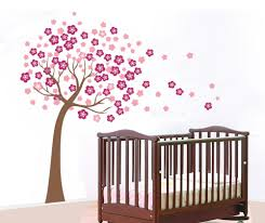 decoration ideas extraordinary wall decoration in living room beautiful wall decoration using cherry blossom wall mural charming baby nursery room decoration with rectangular