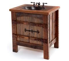 Bathroom Wood Vanities Bathroom Mirrors Reclaimed Barn Wood Vanities Copper Sinks