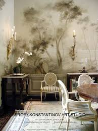 georgian residence dining room mural hand painted walls paint