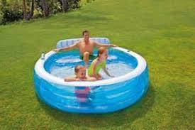 canap gonflable piscine intex 57190 piscine gonflable pour enfants canapé intégré 224x216x76