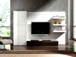 decor concrete walls and tv wall unit designs for living room