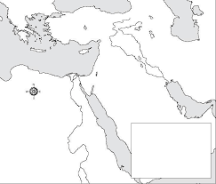 outline map middle east related image s ministry