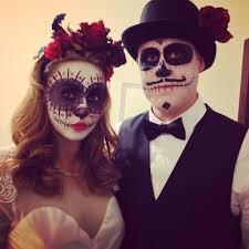couples scary halloween costume ideas dia de los muertos couple costume skulls pinterest