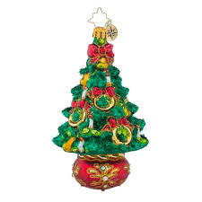 christopher radko ornaments radko five golden rings trees