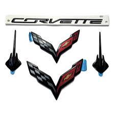 stingray corvette logo acs composite carbon flash black c7 corvette stingray emblem kit