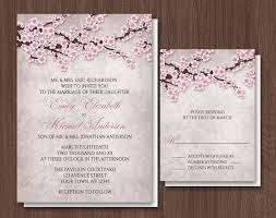 wedding invitations templates cherry blossom wedding invitations cherry blossom wedding