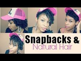 hairstyles that can be worn curly how to wear snapbacks with short natural hair youtube