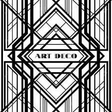art deco style art deco grille metallic abstract geometric pattern in the art
