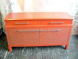 painted furniture orange asian style buffet orange pinterest