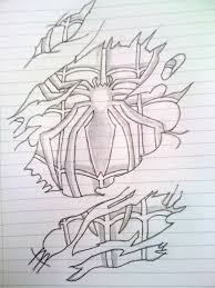 spiderman tattoo sketch mattyjm91 deviantart sketch