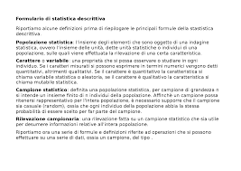 statistica descrittiva dispense formulario di statistica descrittiva docsity