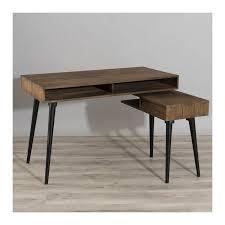 pied de bureau bois bureau rotatif bois teck pieds métal 160x78 tinesixe so inside