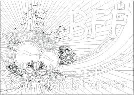 friends coloring pages pictures anime best friend printable bff to