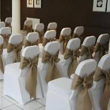 burlap chair sash rustic wedding party decorative hessian chair sashes chair cover