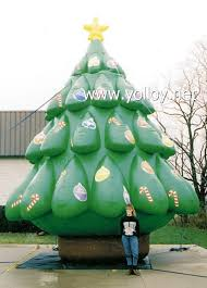 Large Outdoor Christmas Decorations For Sale by Yolloy Outdoor Inflatable Christmas Tree During Xmas For Sale