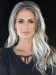 hairstyles with grey streaks photo gallery of long hairstyles for gray hair viewing 4 of 15 photos