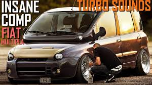 fiat multipla tuning insane fiat multipla sound exhaust turbo diesel compilation youtube
