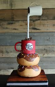gravity defying coffee u0026 donut cake cakes pinterest donut