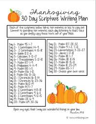 thanksgiving 30 day scripture writing plan spiritual growth