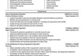 Heavy Equipment Operator Sample Resume by Construction Heavy Equipment Operator Resume Reentrycorps