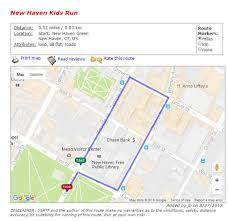 Google Maps Running Route by Course Maps Faxon Law New Haven Road Race