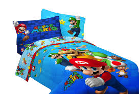 Mario Bedding Set Mario Brothers Bedding Set For For The Littlest Gamer