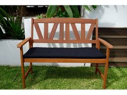 newport bench seat u0026 cushion outdoor timber bench seat with