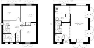 Plan De Maison En Longueur Plan Maison étage