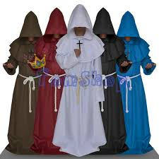 aliexpress com buy monk hooded robes cloak cape friar medieval