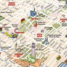 san francisco map downtown custom maps for advertising marketing or promotion
