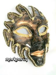 jester masquerade mask gold glazed jester masquerade mask headband or ribbons