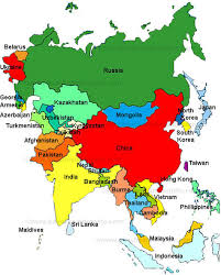 asia map and countries map of countries in asia major tourist attractions maps