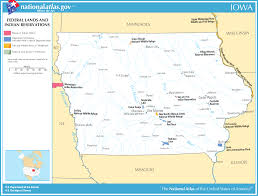 Iowa Usa Map by Map Of Iowa Map Federal Lands And Indian Reservations
