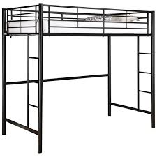 Bunk Bed Metal Frame Tubular Steel Size Loft Bunk Bed In Black Fastfurnishings