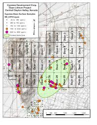 750 Meters To Feet by Cypress Samples Up To 3730 Ppm Li At Dean Lithium Project In