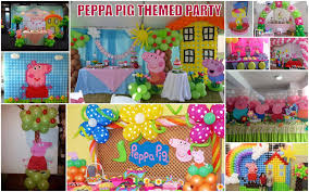 peppa pig decorations peppa pig theme birthday party athena miel s balloons bubbles and