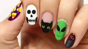 halloween monster nails nail art beauty by arielle quick and easy halloween nail art for