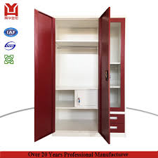 china alibaba high quality steel 3 door living room almirah with 2