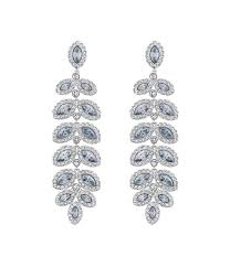 Crystal Chandelier Earrings Beadfeast Kay Chandelier Earrings Whites Sterling Silver Astounding