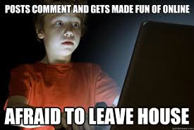 Picture Comment Memes - posts comment and gets made fun of online afraid to leave house