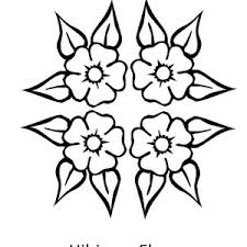coloring pictures of hibiscus flowers four beautiful hibiscus flower coloring page color luna
