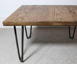 rectangular wood hairpin coffee table rectangular wood hairpin coffee table best gallery of tables furniture
