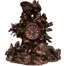 Pewter Mantle Clock Enamel Clocks 153 For Sale At 1stdibs