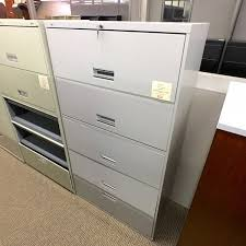 Used Lateral File Cabinets Used Hon 5 Drawer 36 Flip Front Lateral File Cabinet Gray