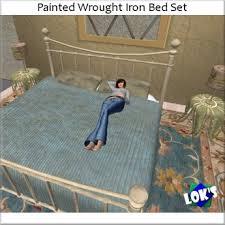 second life marketplace lok u0027s painted wrought iron bedroom set