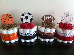 basketball baby shower sports baby shower ideas set of 4 mini sports cakes boy