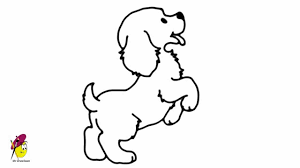 standing baby dog how to draw a dancing dog easy drawing youtube