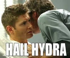 Hail Meme - hail hydra meme supernatural movies celebs pinterest hail
