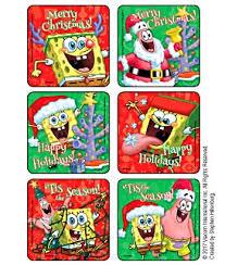 christmas stickers spongebob merry christmas stickers kids stickers from medibadge
