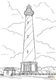 cape hatteras lighthouse north carolina coloring page free